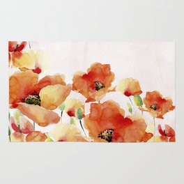 Beautiful Poppies #society6 Rug