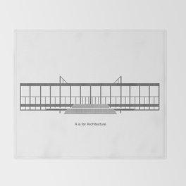 Mies - A is for Architecture Throw Blanket