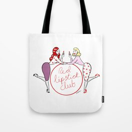 Red lipstick club Tote Bag