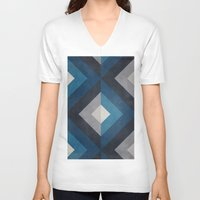 greece V-neck T-shirts featuring Greece Hues Diamond by Diego Tirigall