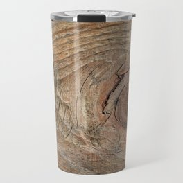 Wood with knot Travel Mug