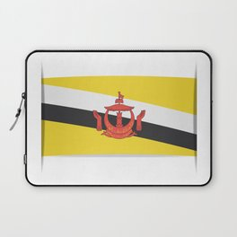 Flag of Brunei.  The slit in the paper with shadows.  Laptop Sleeve