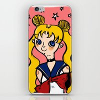sailormoon iPhone & iPod Skins featuring Sailormoon! by poetickles