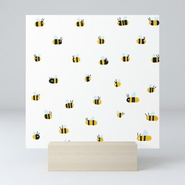 Bees are flying around, please save them Mini Art Print