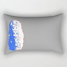 Stacked - Gray Rectangular Pillow