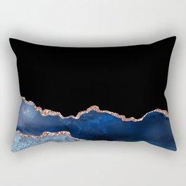 Beautiful Rose Gold Desert Design Pattern Rectangular Pillow
