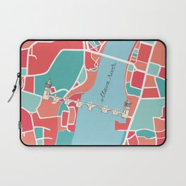 Prague Minimal Map Laptop Sleeve