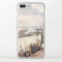 Camille Pissarro - Steamboats in the Port of Rouen, 1896 Clear iPhone Case