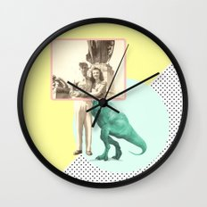 Who would like to date a t-rex Wall Clock