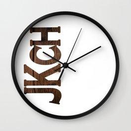jkch madera Wall Clock