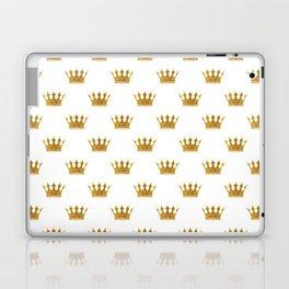 Wedding White Gold Crowns Laptop & iPad Skin