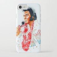 elvis presley iPhone & iPod Cases featuring Elvis presley by calibos