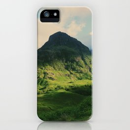 Mountain in Glencoe, Scotland iPhone Case