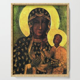 Virgin Mary Our Lady of Czestochowa Madonna and Child Jesus Religion Christmas Gift Serving Tray