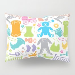 seamless pattern with baby icons Pillow Sham