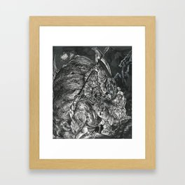 Inktober 2017: Spider Framed Art Print