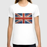 british flag T-shirts featuring UK British Union Jack flag retro style by Bruce Stanfield