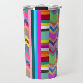 Striped Kilim in Warm Multi Travel Mug