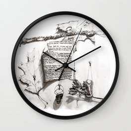 Writing ReDrawn on White Wall Clock