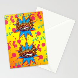 Psychedelic Lips  Stationery Cards