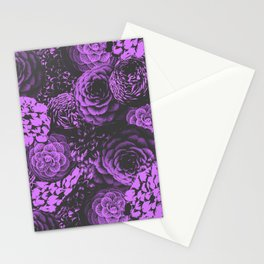 Moody Florals in Purple Stationery Cards
