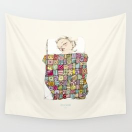 sleeping child Wall Tapestry