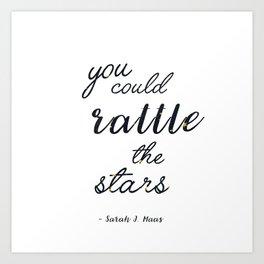 Rattle The Stars - White Art Print