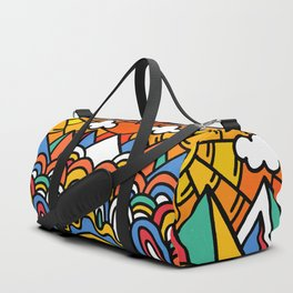 Shiny happy land Duffle Bag