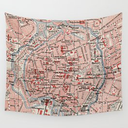 Vintage Map of Braunschweig Germany (1905)  Wall Tapestry