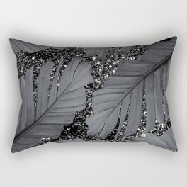 Banana Leaves Glitter Glam #2 #shiny #tropical #decor #art #society6 Rectangular Pillow