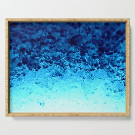 Blue Crystal Ombre Serving Tray