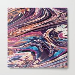 New Wave Flow Metal Print