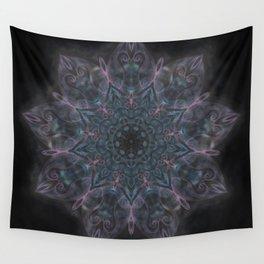 Pink and Blue Mandala Swirl Wall Tapestry