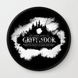 Gryffindor B&W Wall Clock