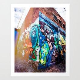 Graffiti Corner Art Print