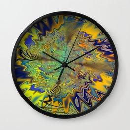 Tribal Beat Abstract Fractal Wall Clock