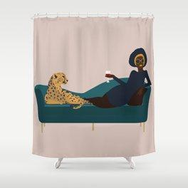 Cheetahs fashion girl woman Cheetahs Shower Curtain