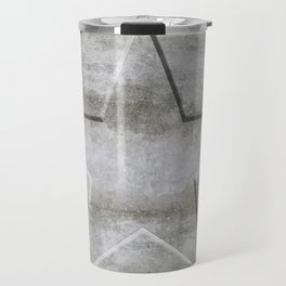 Solid Star in grey conrete Travel Mug