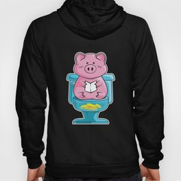 Funny Pig On Toilet Piggy Bank Potty Training Pun Hoody