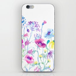 Watercolor Field of Pastel iPhone Skin