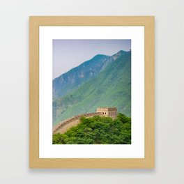 Great Wall Of China Tower Framed Art Print