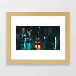 Tokyo Nights / Kiss Land II / Blade Runner Vibes  / Liam Wong Framed Art Print