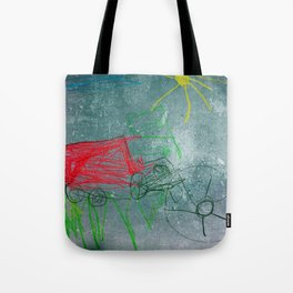 Tractor Red Tote Bag
