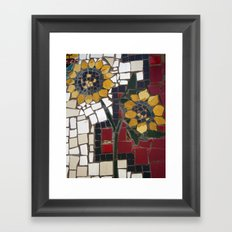 Sunflower Mosaic Framed Art Print