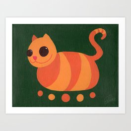 Dave, the Five-Footed Cat Art Print