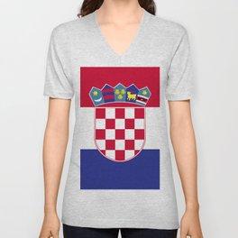 Croatia flag emblem Unisex V-Neck