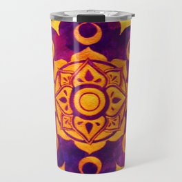 """""""Witchcraft""""  WATERCOLOR MANDALA (HAND PAINTED) BY ILSE QUEZADA Travel Mug"""