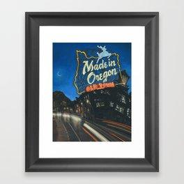 Made in Oregon Framed Art Print