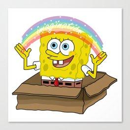 spongebob squarepants imagination Canvas Print