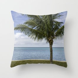 Palm and the Ocean Throw Pillow